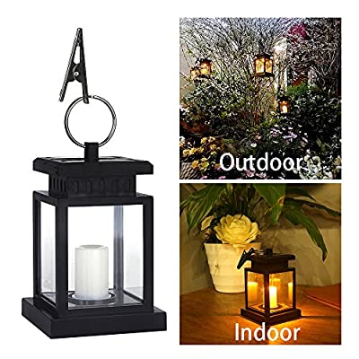 TOPCHANCES Solar Mason Jar Lights, Outdoor Lantern Hanging Lights Lamp Solar String Lights,IP44 Waterproof, Built-in 600 mAh Rechargeable Battery for Garden Patio Courtyard