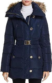 Michael Michael Kors Women's Blue Down Belted Puffer Coat