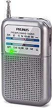PRUNUS DEGEN-DE333 Radio de Bolsillo FM/Am, Señal excelente, Sintonizador con indicador. Funciona con AAA Pilas Intercambiables (Plata)