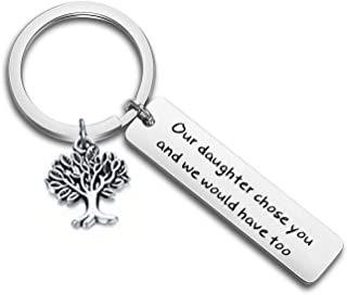 LQRI Son-in-Law Keychain Our Daughter Chose You and We Would Have Too Keychain Gift for Anniversary, Wedding or Family Reunion