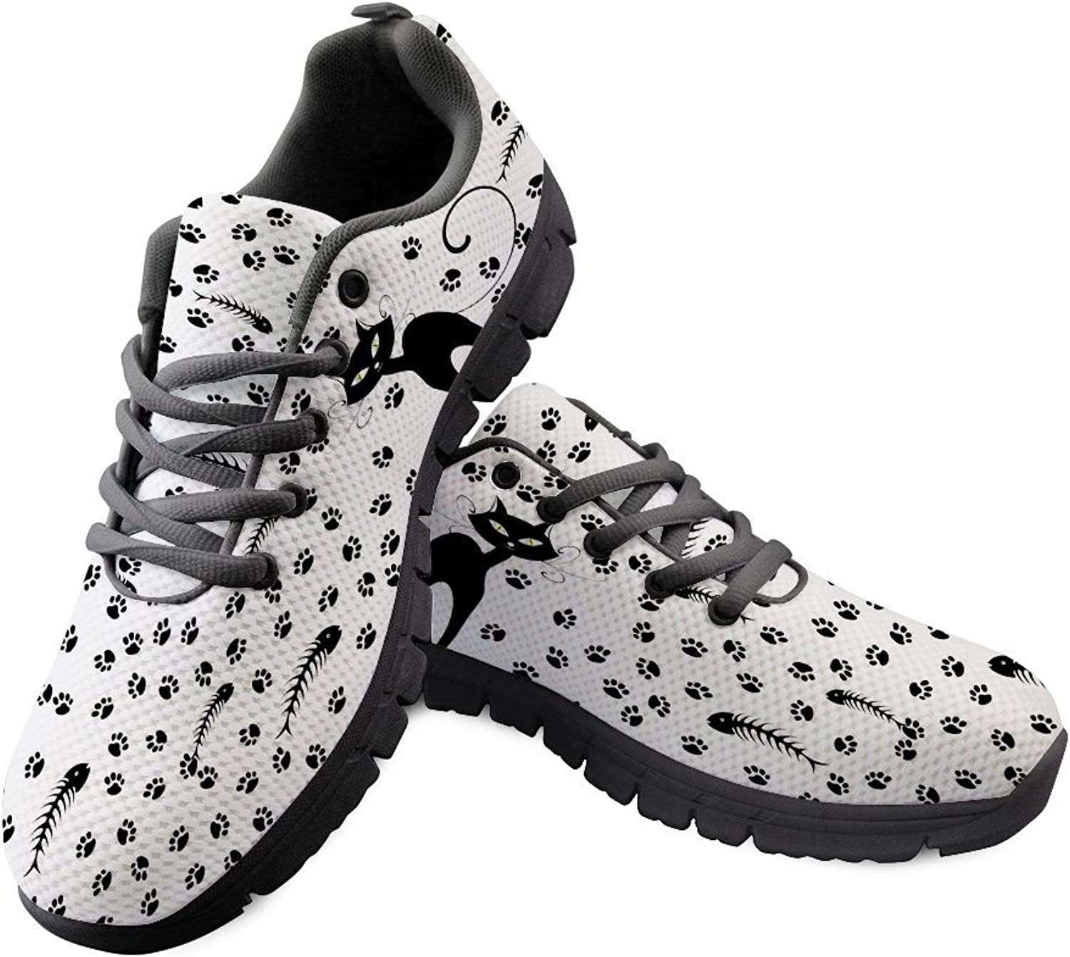 DeePrint Funny 3D Animal Male Sneakers shoes Sport Safety shoes