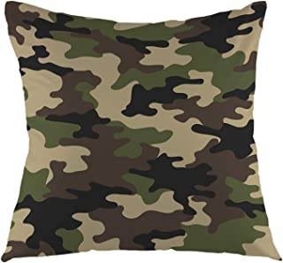 oFloral Camouflage Pattern Military Backgound Throw Pillow Cover Square Cushion Case Home Decorative for Sofa Couch Car Bedroom Living Room 18