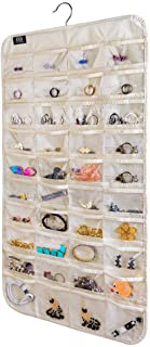 BB Brotrade HJO80 Hanging Jewelry Organizer,80 Pocket Organizer for Holding Jewelries(Beige)