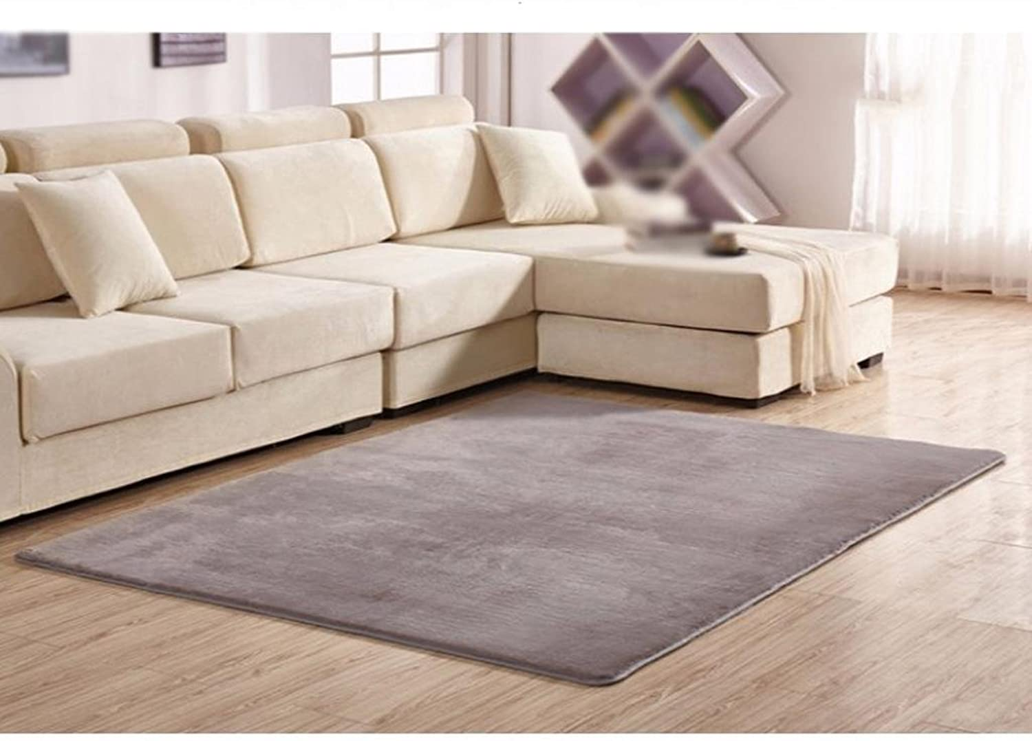 DYI velvet carpet, soft and smooth rectangular living room carpet, coffee table, bedroom bed mats.