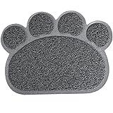 Ueetek - Tovaglietta-tappetino per dare da mangiare agli animali da compagnia, 30 x 40 cm, colore: Grigio