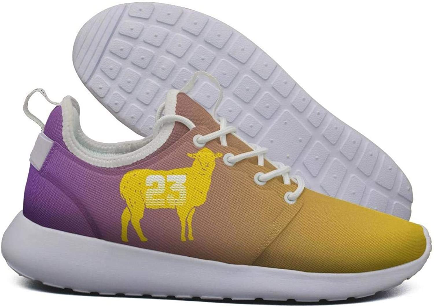 Womens Roshe Two Lightweight G.O.A.T 23 Yellow Goat Basketball Print Running Sneakers mesh shoes