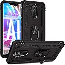 Phone Case for Huawei Mate 20 lite Case with Ring Holder Stand Women Men Friendly Grip Heavy Duty Armor Curved Silicone Ce...