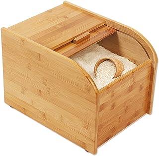 Pots et bocaux de conservation Seau à riz Boîte de stockage de riz Boîte de rangement de riz scellée Seau à farine sain et...