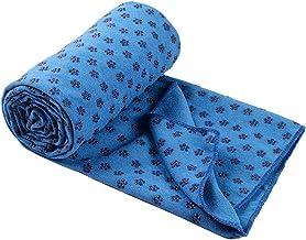 Yogacke deken sport slipvast strandkleed picknick yoga mat strand 180x60cm (blauw)