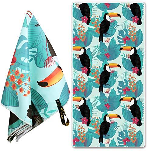 Microfiber Bird Beach Towel