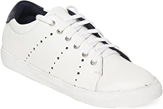 Bruno Manetti Men White Synthetic Leather Sneakers