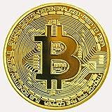 ILOVEDIY 2Stück Bitcoin Münze Sammlerstück Gold Kupfer Silber (Gold)