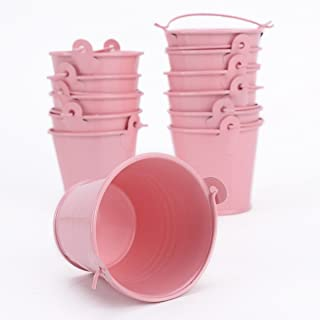 12x Mini Cute Metal Bucket Colored Xmas Wedding Party Favors Gift Candy Buckets by surepormise