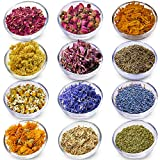 Dried Flowers Set for Soap Making - Dried Herbs and Flowers Craft Supplies - Soap Making Supplies - Dried Flowers for Resin - 12 Herbs Set for Crafts - Dry Flowers for Candle Making