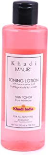 Khadi Mauri Herbal Mauri Cleansing and Toning Lotion with Pomegranate and Lemon Extracts, White, 210 ml