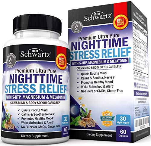 40% OFF Natural Sleep Supplement with Melatonin - 60 Capsules - $8.97 at Amazon + Free Shipping w/ Prime on orders +$25. Nighttime Stress Relief Helps Calm & Soothe Nerves