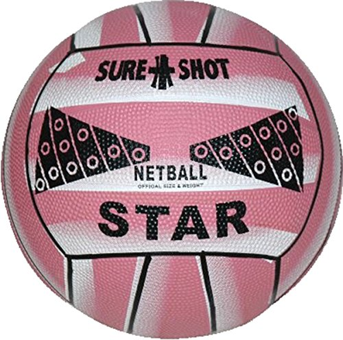 Fantastic Deal! Sure Shot Star Netball Pink Size 5