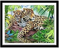 5Dフルドリルダイヤモンドペインティングキット動物のヒョウ仏最も人気のあるDIYの装飾寝室に使用される親と子供のための家の装飾ギフト40X50CM11CT
