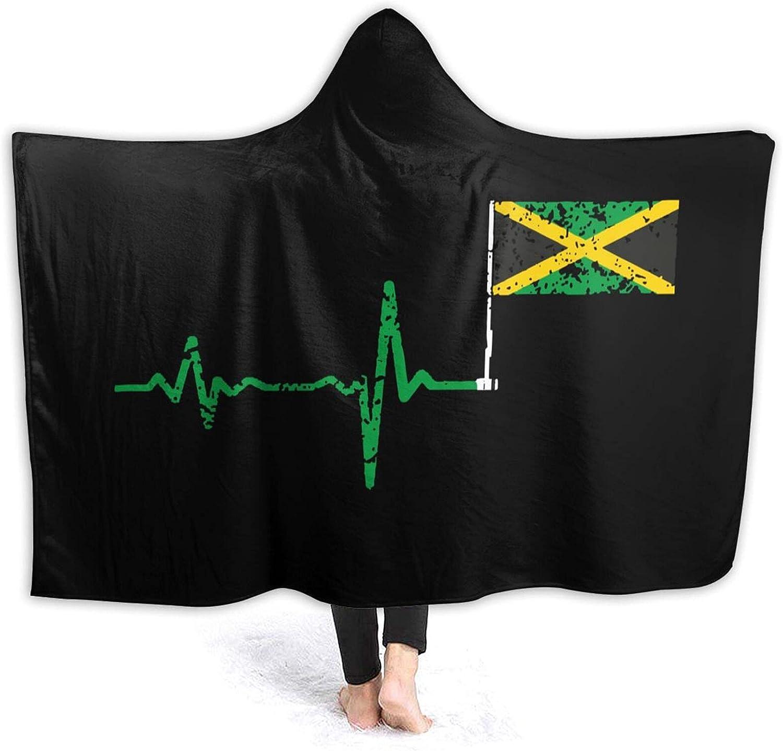Oversized Blanket trust for Women Men Heartbeat Outstanding Jamaica H Flag