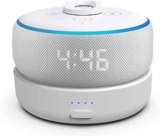 Base de bateria GGMM D3 para Alexa Echo Dot 3ª geração, uso livre Dot 3rd na cozinha, banheiro, varanda ou jardim, branco...