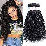 Brazilian Virgin Curly Hair 3 Bundles (14 16 18 inches) 8A 100% Unprocessed Brazilian Virgin Hair Weft Extensions Good Quality Curly Weave Human Hair Bundles …
