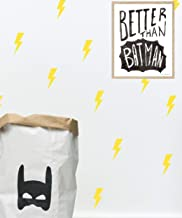 Yellow Lightning Bolt Wall Art Decal Stickers for Boys Room Decor - 24 Pieces