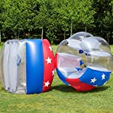 【2 Pack】 Bumper Balls, Inflatable Bubble Soccer Balls, Body Zorb Balls 1.5M/5FT 1.2M/4FT Dia Giant Human Hamster Ball for Adults & Teen