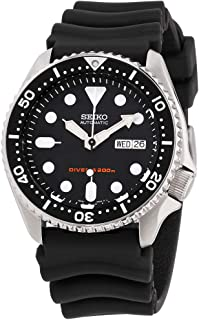 Seiko Divers Black Dial Rubber Strap Men's Watch SKX007P9
