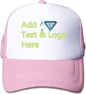 Men Womens Custom Personalized Trucker Snapback Hat Design Photo or Message Print Cap