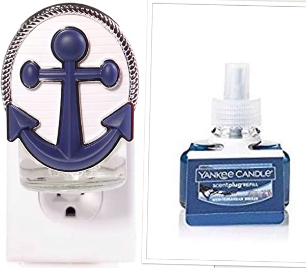 Yankee Candle Navy Into Port Scent Plug Diffuser Unit With A Mediterranean Breeze Home Fragrance Electric Refill