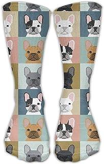 Daisylove, Calcetín informal, para hombre, diseño de perro bulldog francés, talla 6-10