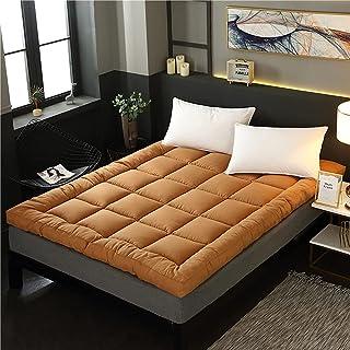 やわらかい和床マットレス、厚手のキルティング布団、滑り止め畳敷、折りたたみ式ロールアップマットレスシングルダブル寝台、和床、コーヒー、キング
