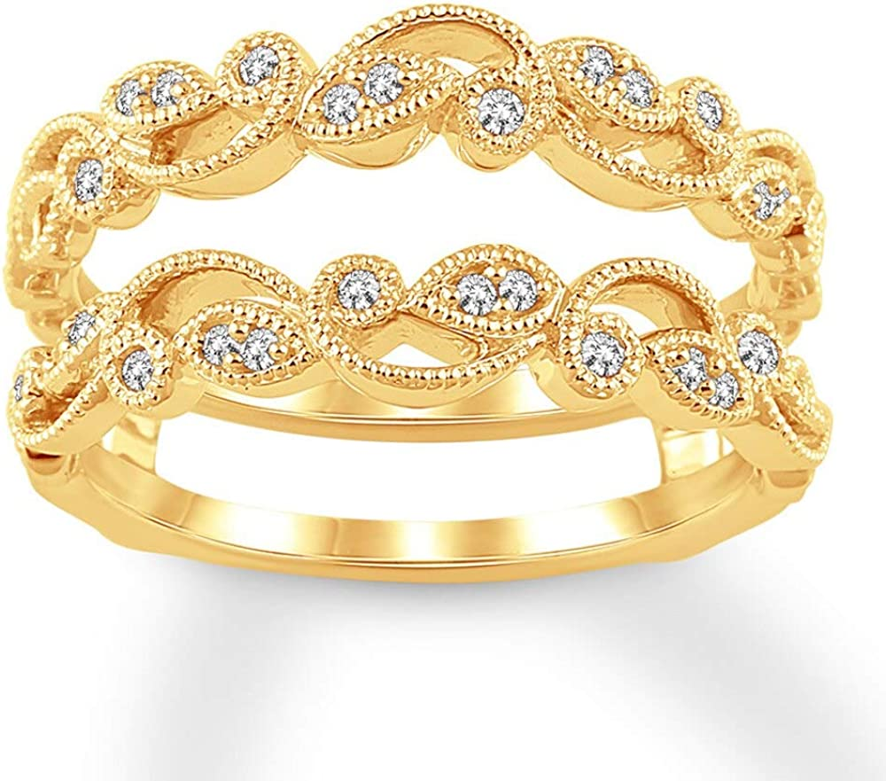 Jewelry Star Ranking TOP16 14K Yellow Gold Plated Zi Silver Cut Cubic in Round Max 57% OFF