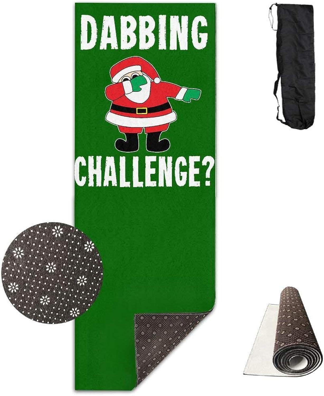 Christmas Dabbing Challenge Yoga Mat Towel for Bikram Hot Yoga, Yoga and Pilates, Paddle Board Yoga, Sports, Exercise, Fitness Towel