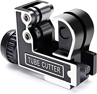 Mini Tube Cutter GOCHANGE Tubing Cutter Slice Copper Aluminum Tubing Pipe Cutting Tool Stainless Steel 3-28mm 1/8inch to 1-1/8inch