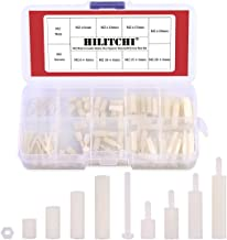 Hilitchi 120pcs M2 Male Female Nylon Hex Spacer Standoff Screw Nut Assortment Kit (Nylon M2)