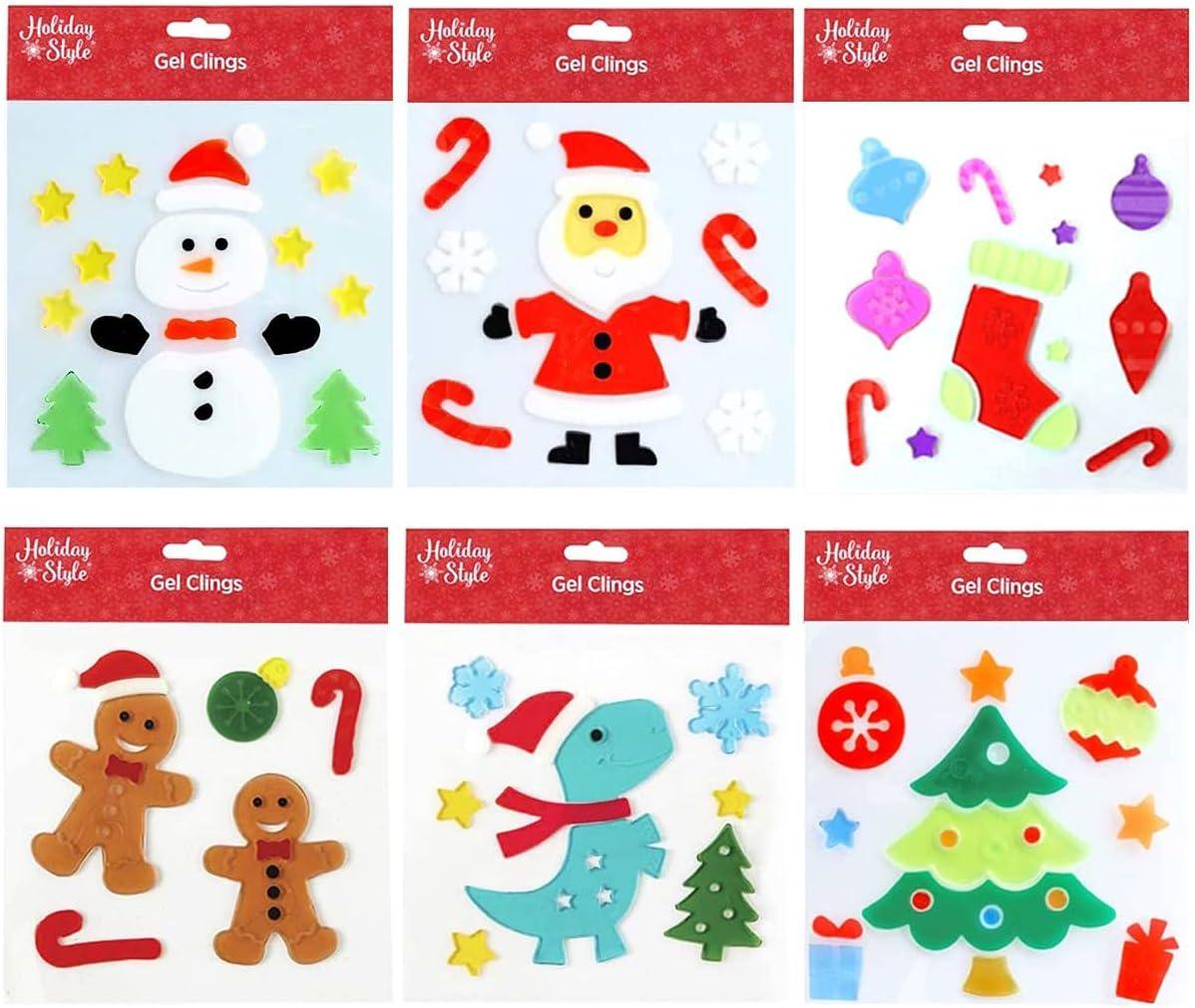 MRTREUP trust Christmas Trust Window Gel Cling Happy Decorations H