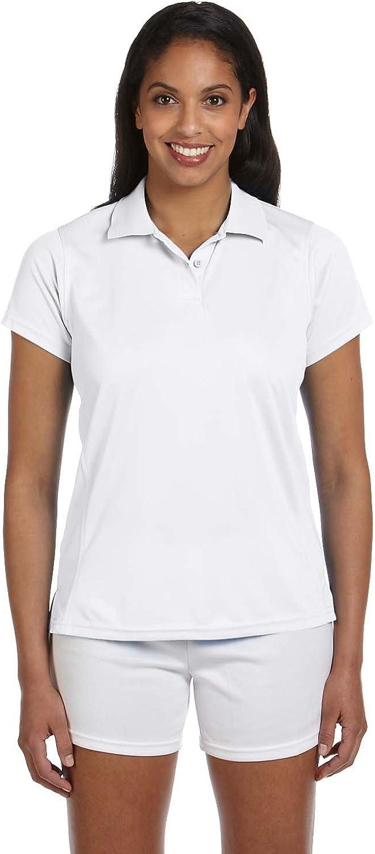 Product of Brand Harriton Ladies 4 oz Polytech Polo Shirt - White - 3XL - (Instant Savings of 5% & More)