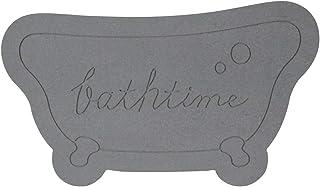 アンドエヌイー(&NE) 珪藻土バスマット Bathtime ブラック NIT-067-BK