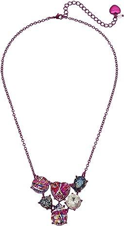 Betsey Johnson - Graffiti Cluster Stone Bib Necklace