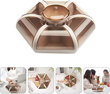 Cabilock Multi Sectional Snack Serving Tray Snack Box Candy Dish Candy Tray Dish Appetizer Tray 7 Compartment Divided Serving