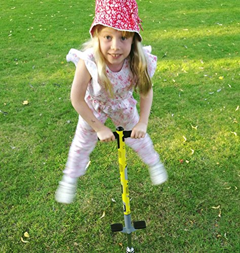 Think Gizmos Pogo Stick for Kids - Aero Advantage - for Kids 5,6,7,8,9,10 Years Old & Up to 90lbs (36kgs) - Awesome Fun Quality Pogo Stick for Boys & Girls (White & Black)