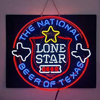 Lone Star National Beer of Texas Beer Bar Pub Store Party Room Wall Windows Display Neon Signs24x20