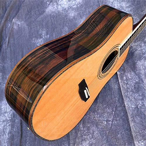 ABMBERTK , Gitarre , solide Fichtendecke , 41-Zoll-D-Stil Akustikgitarre, Abalone-Einlagen Ebenholzgriffbrett, Cocobolo Rücken- und Seitenakustikgitarre, Gitarre und Koffer, 41 Zoll