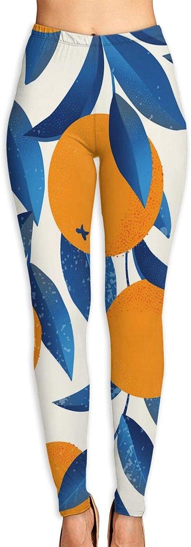 overseas Ruto Oranges Fruit Women Girls Stretchy Yoga Sacramento Mall Leggings Pants Work