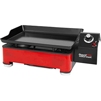 Royal Gourmet PD1202R 18-Inch Portable Table Top Propane Gas Grill Griddle for Camping, red