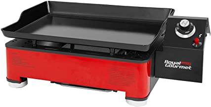 Royal Gourmet PD1202R 17-Inch Portable Table Top Propane Gas Grill Griddle for Camping, red