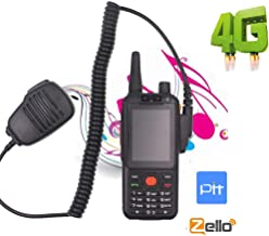 Anysecu Worldwide Talk 4G LTE Network Smartphone Two-Way Radio Walkie Talkie G25 F25, 3 inch Touch Screen Dual SIM Dual Cameras, Android 7.1 OS Support REALPTT or ZELLO Talk Platform with Microphone