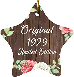 92nd Birthday Original 1929 Limited Edition - Star Wood Ornament A Christmas Tree Hanging Decor - for Friend Kid Daughter ...