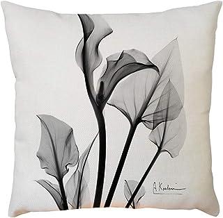 "Iuhan Throw Pillow Case Cushion Cover, Plant Flower Pattern Pillowcase Pillow Case Cushion Cover Sofa Home Car Decor 18"" x 18"" 45cm x 45cm (E)"